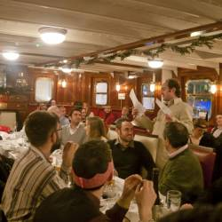 Actors engaging with crowd at Creative Events Murder Mystery Pub Crawl