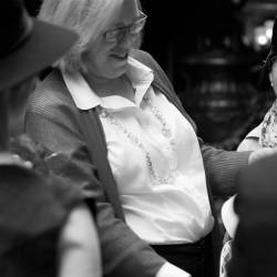 A woman learning lines at a Creative Events Silent Movie Making event