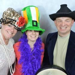 People wearing funny Irish hats at a Creative Events Trad Irish Experience