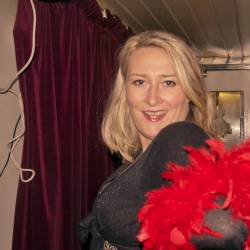 One of our female actors posing for the camera while she is in character, organised by Creative Events
