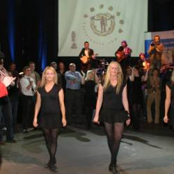A dancing performance with two dancers at a Creative Events Irish Gala Dinner
