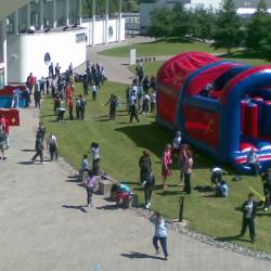 Inflatable obstacle course at a Creative Events event