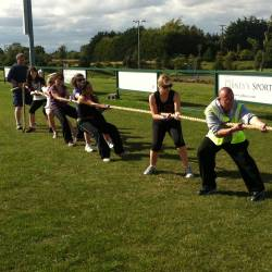 A tug o war competition at a Creative Events Old School Sports Day