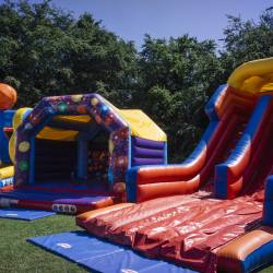 Inflatable games at a Creative Events Company Carnival