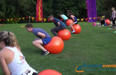 A space hopper race at a Creative Events Old School Sports Day