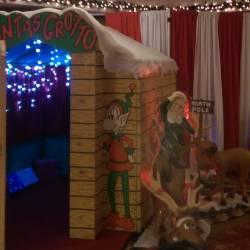 Entrance to a Creative Events Santa's Grotto
