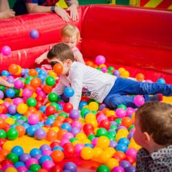 A kids ball pool at a Creative Events Summer Family Fun Day