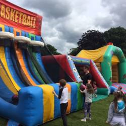 Inflatable Basketball Shootout at a Creative Events Summer Party