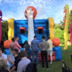 An inflatable basketball at a Creative Events Summer Party