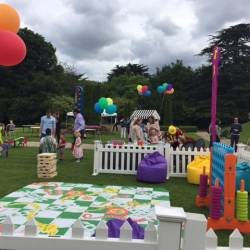 A wide shot of a Creative Events Summer Party