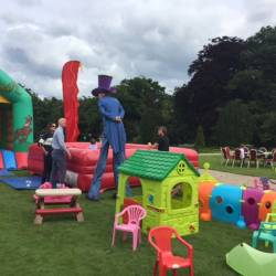 A soft play area for children at a Creative Events Summer Party