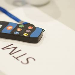 A keypad lying on a table at a Creative Events Digi Quiz