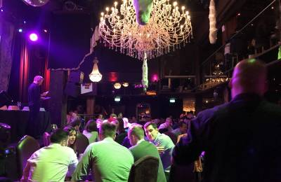 People sitting answering questions at a Creative Events Big Interactive Quiz