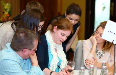 Teams writing down answers to questions at a Creative Events Big Interactive Quiz event