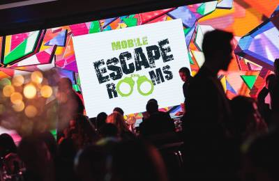 Mobile Escape Room logo on a screen