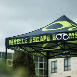 The Mobile Escape Room gazebo