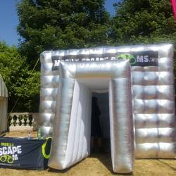 The Mobile Escape Room tent outdoor