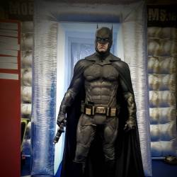 Batman in front of the Mobile Escape Room at the Dublin Games Festival 2018